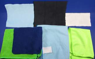 various microfiber cloths