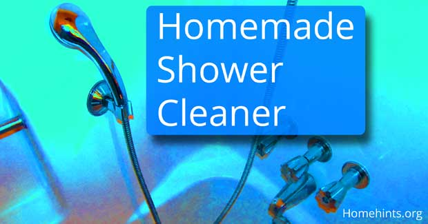 homemade shower and tub cleaner