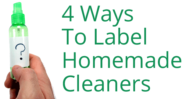 4 ways to label homemade cleaners