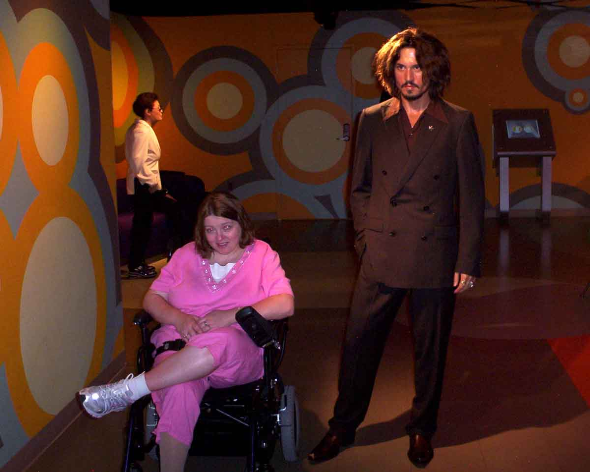 Amanda Putman McBay and Johnny Depp in Madame Tussauds Washington, D.C