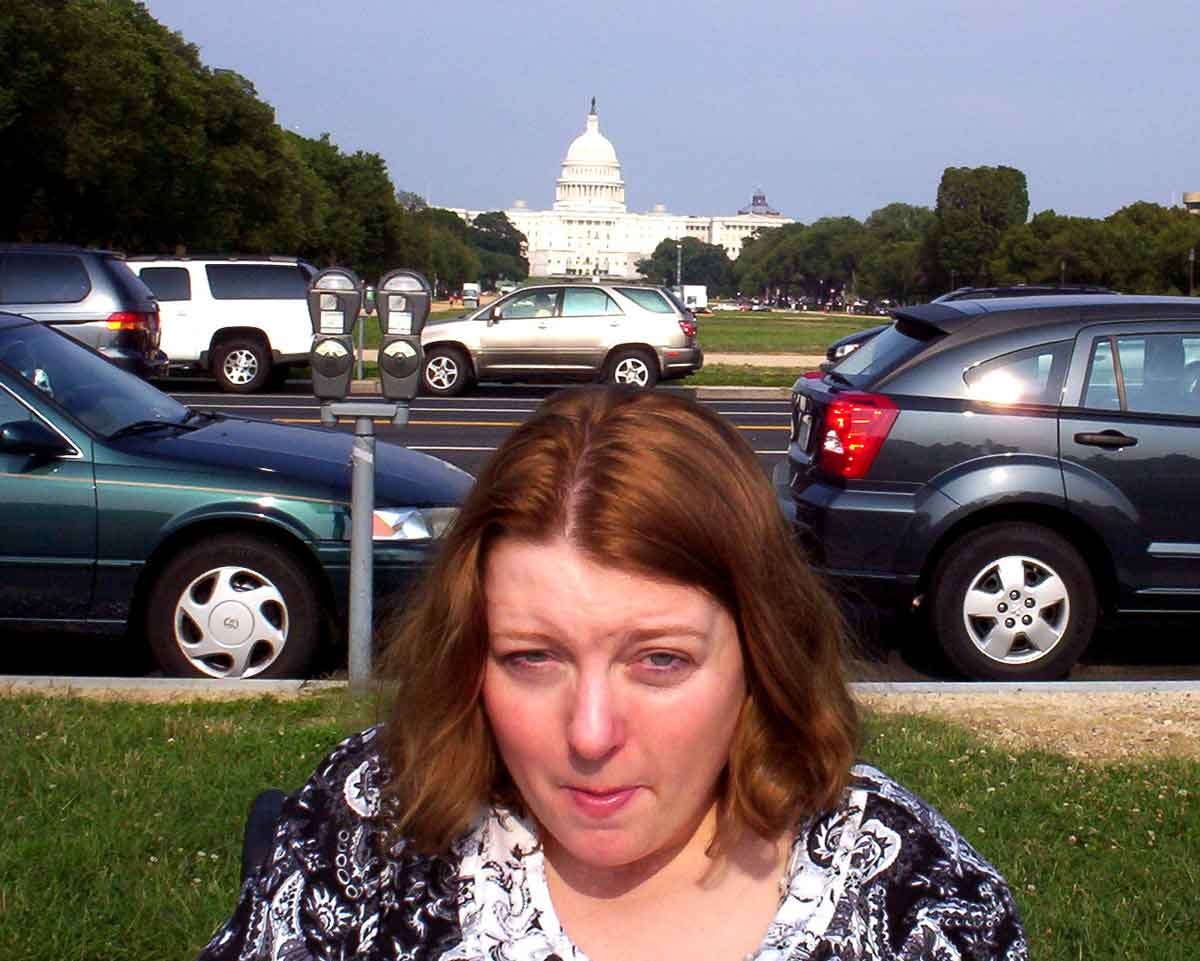 Amanda Putman McBay in front of the U.S. Capitol Building