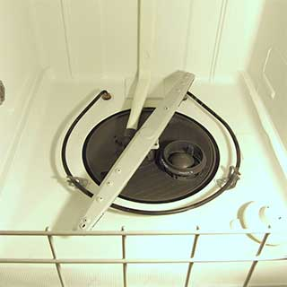 clean dishwasher after running a cycle of CLR