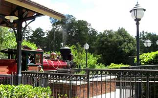 train station at Disney World Magic kingdom