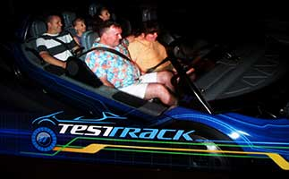 Jef and Amanda on Test Track in Epcot