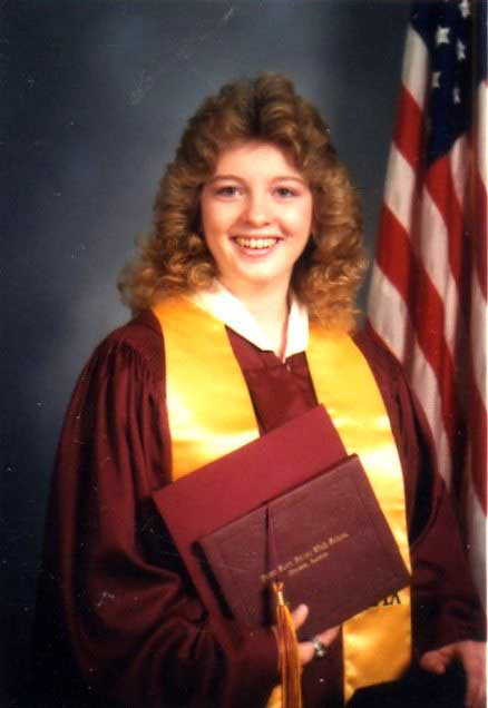 Amanda Putman McBay's high school graduation photo.